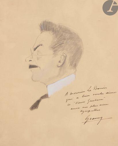 Fernand GRAVEY (1905-1970). Autoportrait;...
