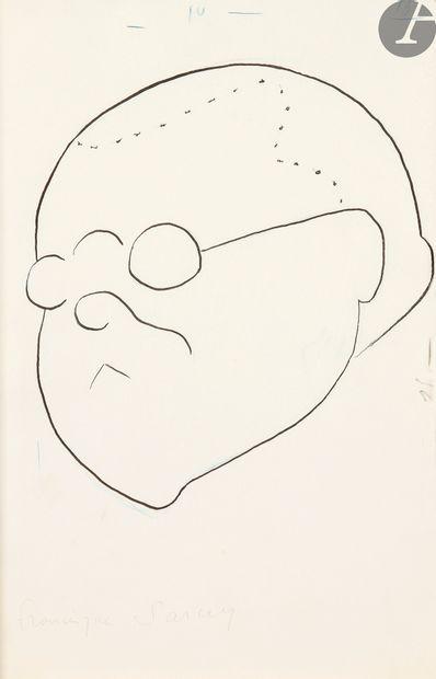 Sacha GUITRY (1885-1957).4 dessins originaux, et ensemble de coupures de presse...