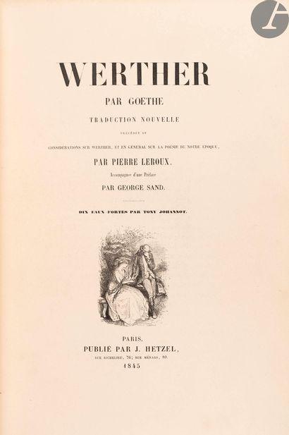 GOETHE (Johann Wolfgang von). Werther. Traduction...