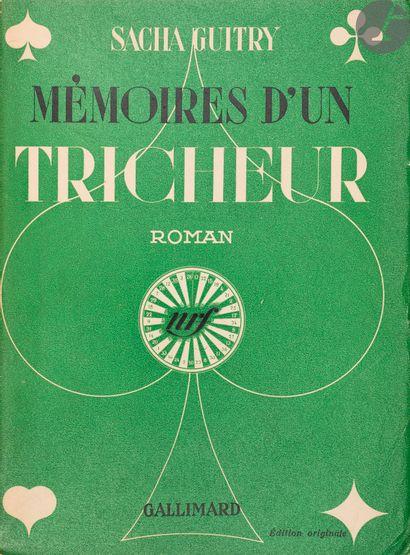 GUITRY (Sacha). Mémoires d'un tricheur. Roman....