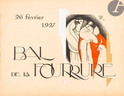 [BAL DE LA FOURRURE]. Ensemble de 4 programmes...