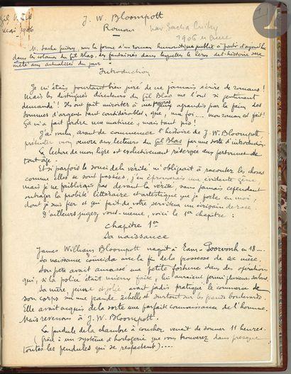 Sacha GUITRY (1885-1957). Manuscrit (copie...