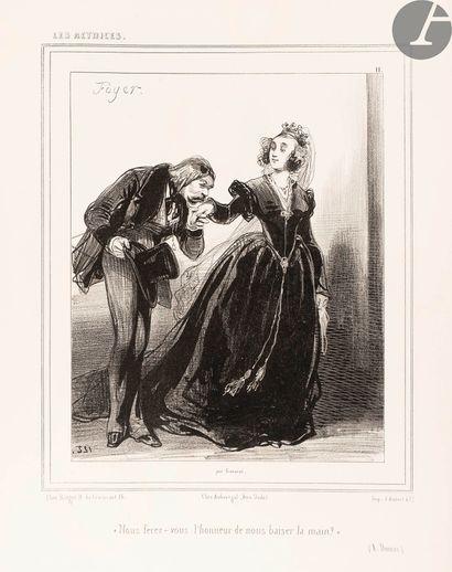 GAVARNI. Les Coulisses. Paris: Aubert, [1838]....
