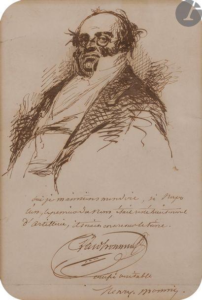 Henry MONNIER (1799-1877). Autoportrait en...