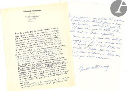 MANUSCRITS. 10 manuscrits autographes signés....