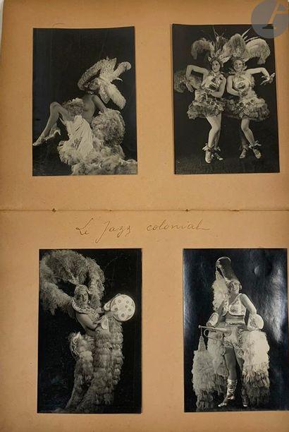 MUSIC-HALL. 14 albums de photographies de revues ou spectacles; albums in-4 cartonnés...