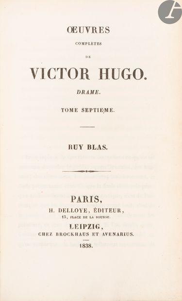 HUGO (Victor). Ruy Blas. Paris: H. Delloye;Leipzig:...