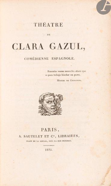 MÉRIMÉE (Prosper). Théâtre de Clara Gazul,...