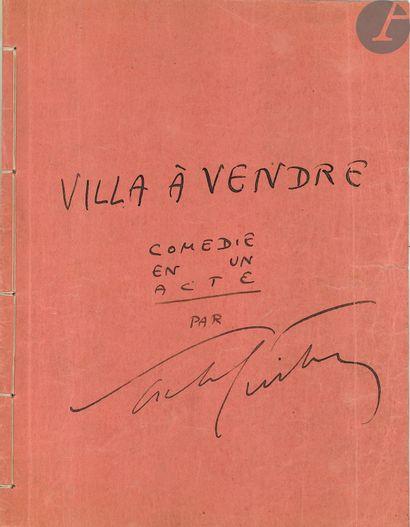 Sacha GUITRY (1885-1957). Tapuscrit avec...