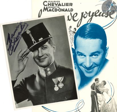 Maurice CHEVALIER (1888-1972). Recueil de programmes, affiches et documents; volume...