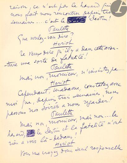 Sacha GUITRY (1885-1957). Manuscrit autographe...