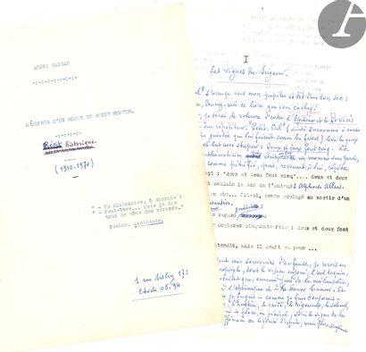 André RANSAN (1896-1984) journaliste et auteur...