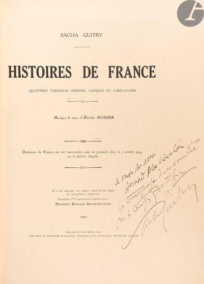 GUITRY (Sacha). Histoires de France. Quatorze...