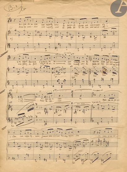 Maurice YVAIN (1891-1965). 2 manuscrits musicaux...