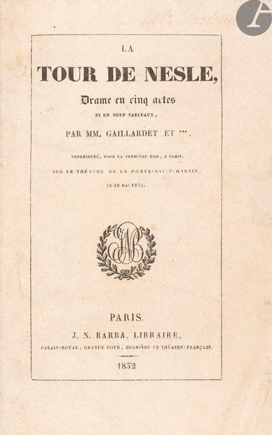 DUMAS (Alexandre) - GAILLARDET (Frédéric)....