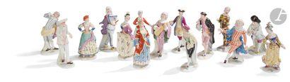 Furstenberg Ensemble de quinze statuettes...