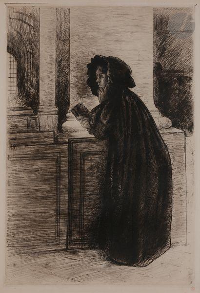 Norbert GOENEUTTE (1854-1894)  La Prière,...