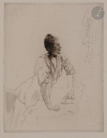 Norbert GOENEUTTE (1854-1894)  La Blanchisseuse,...