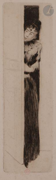 Norbert GOENEUTTE (1854-1894)  L'Indiscrète...