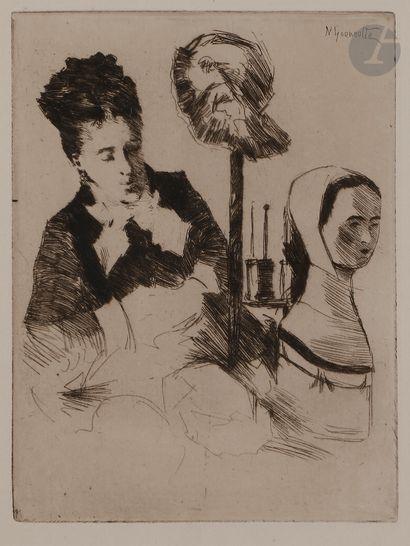 Norbert GOENEUTTE (1854-1894)  La Modiste,...