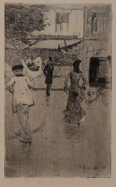 Norbert GOENEUTTE (1854-1894)  Jour de fête,...