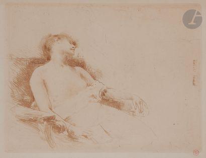 Norbert GOENEUTTE (1854-1894)  Somnolence...