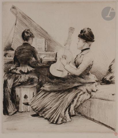Norbert GOENEUTTE (1854-1894)  Le Duo (musique...