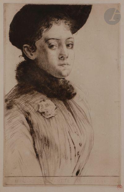 Norbert GOENEUTTE (1854-1894)  Maud, 1891...
