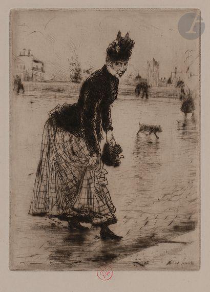 Norbert GOENEUTTE (1854-1894)  Traversant...