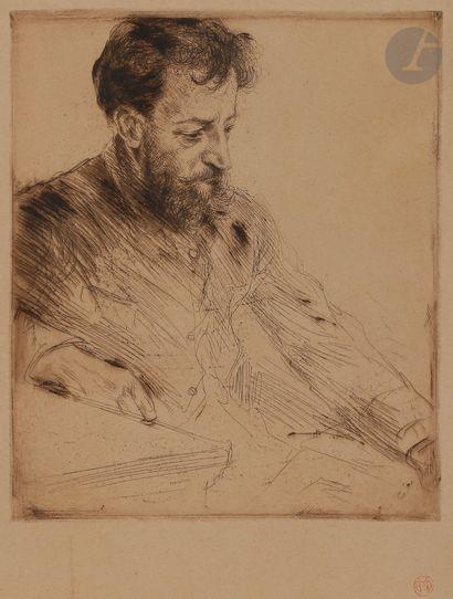 Norbert GOENEUTTE (1854-1894)  Portrait d'Eugène...