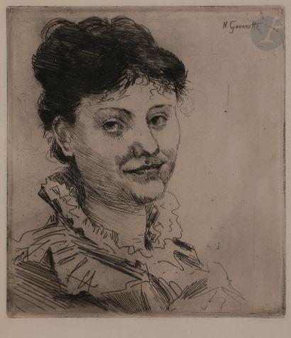 Norbert GOENEUTTE (1854-1894)  Tête de femme...