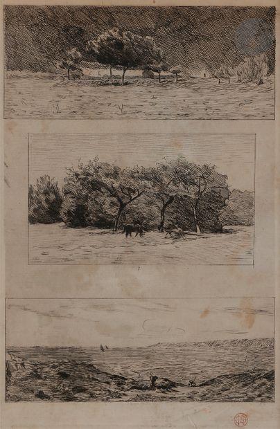 Norbert GOENEUTTE (1854-1894)  Trois paysages,...