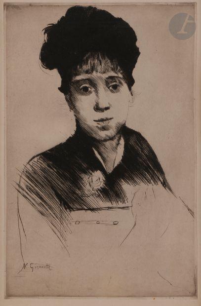 Norbert GOENEUTTE (1854-1894)  Jeune femme...