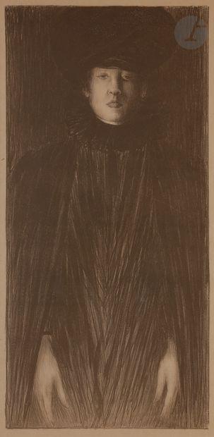 Norbert GOENEUTTE (1854-1894)  Femme vue...