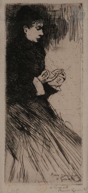 Norbert GOENEUTTE (1854-1894)  La Dévideuse,...
