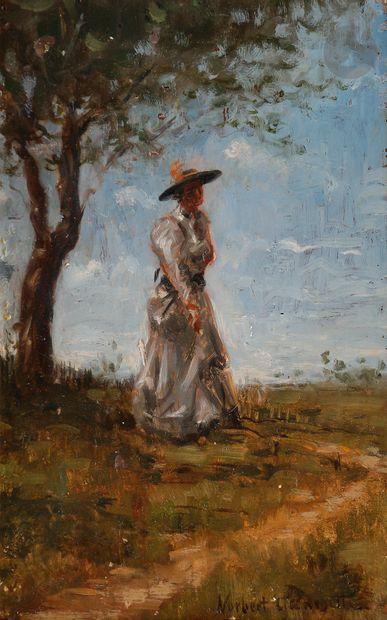 Norbert GOENEUTTE (1854-1894)  Élégante dans...