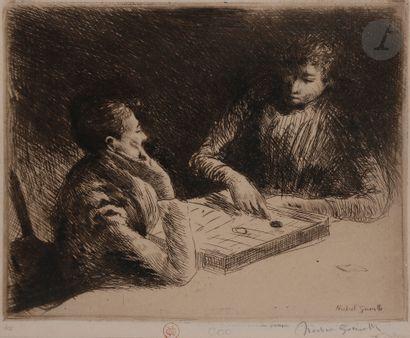 Norbert GOENEUTTE (1854-1894)  La Partie...