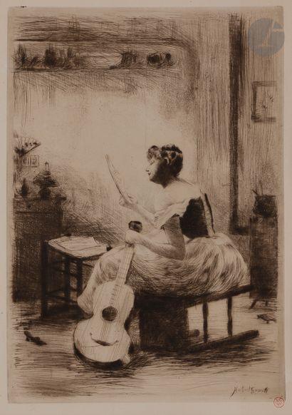 Norbert GOENEUTTE (1854-1894)  L'Étude de...
