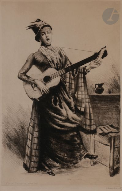 Norbert GOENEUTTE (1854-1894)  La Cigale...