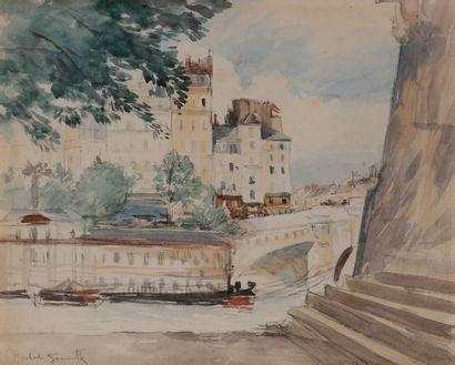 Norbert GOENEUTTE (1854-1894)  Paris, vue...