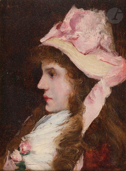 Norbert GOENEUTTE (1854-1894)  Jeune fille...