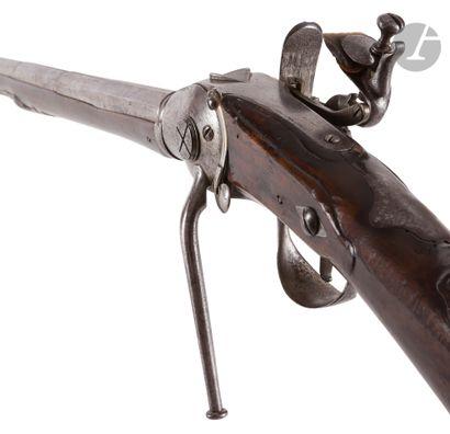 Rare et belle carabine à silex système Lorenzoni...