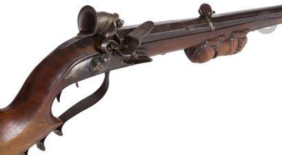 Carabine de tir à silex du type « grenobloise...