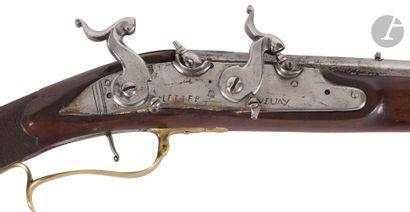 Curieux fusil de chasse, un coup, double...