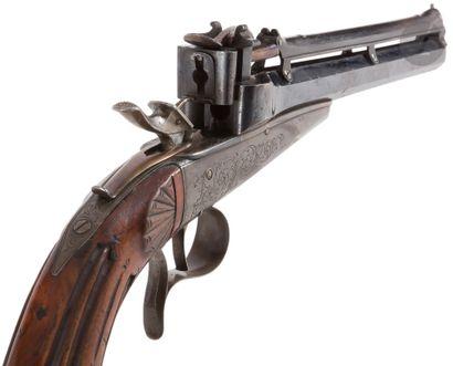 Pistolet à répétition par gravité, système...