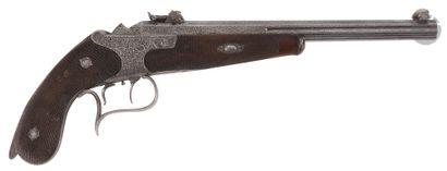 Pistolet de tir allemand, à système, un coup,...
