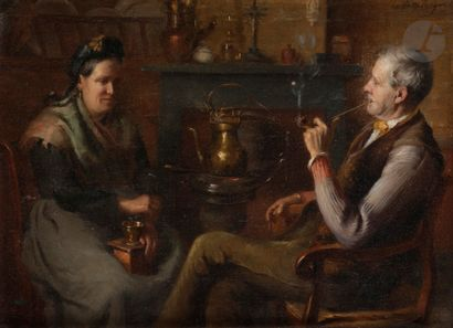 Alfred DESPLANQUES (1853-1930) La lecture...