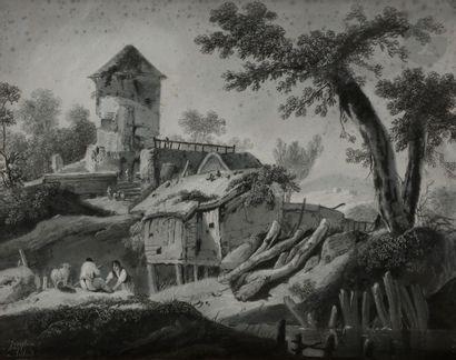 Joséphine AILLOUD (XIXe siècle) Bergère aux...