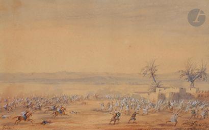 Gaspard GOBAUT (1814-1882) Expéditions des Ksours; Mers-el-Kebir Paires d'aquarelles...
