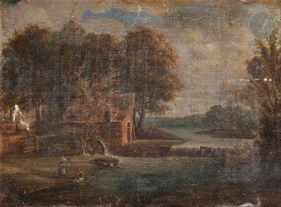 École Française du XIXe siècle Paysage au...